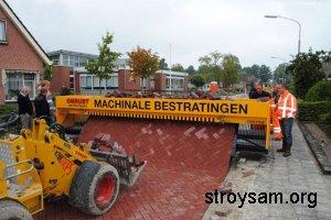 Способы укладки плитки для тротуаров