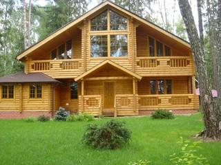 Деревянные дома за городом