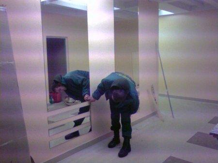 Монтаж стекол и зеркал