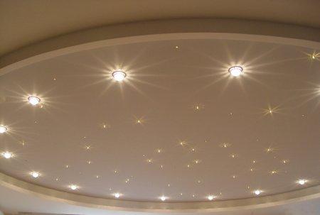 Как выбрать точечный светильник для натяжного потолка?