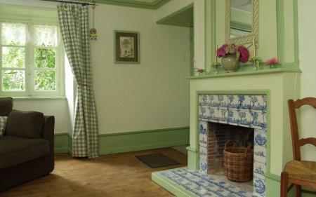 Серый и оливковый цвета в интерьере жилого помещения